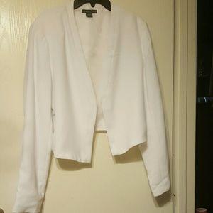New Covington Womens White Blazer